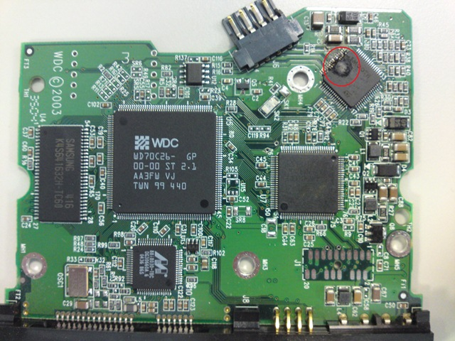 Data recovery pcb
