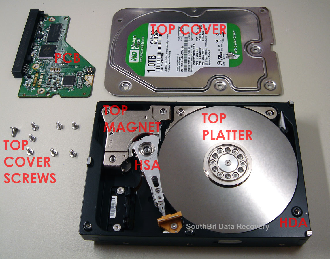 Hard drive internal components