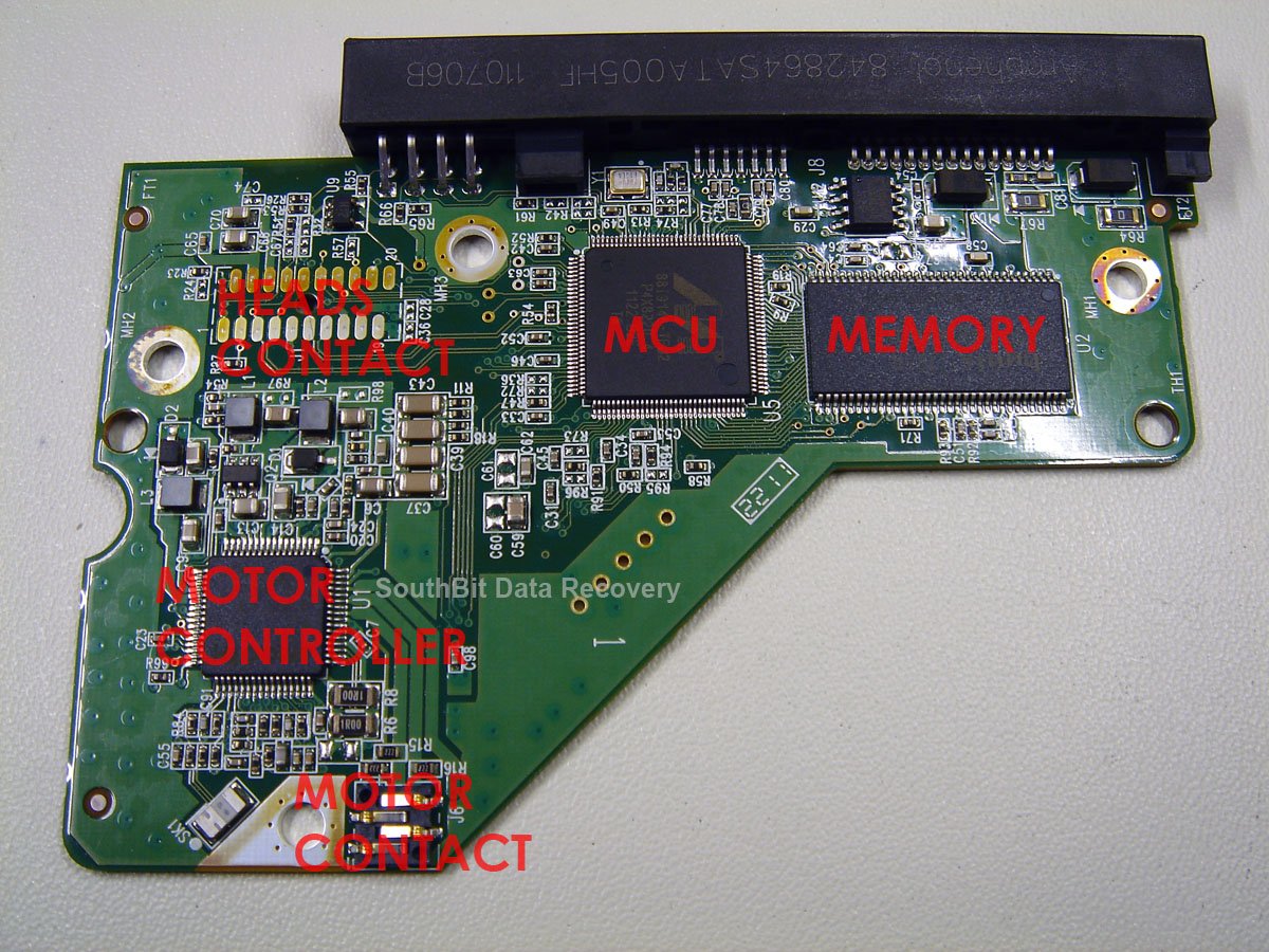 Hard Drive Technical Guide And Components Southbit Cape Town Electronic Circuit Contol Boards Repair Pcb