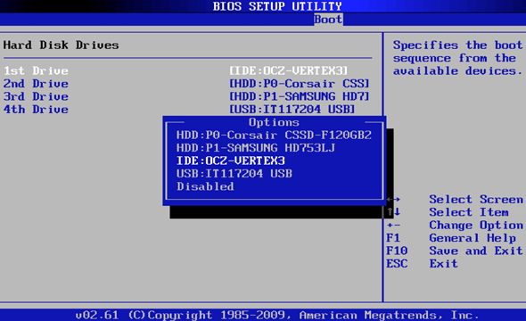 bios hard drive
